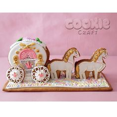 gingerbread house carriage and horses