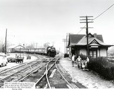 B & O 4 6 2 5300 (Class P-7), has unnamed train 343 from Grafton arriving at the junction of the Old Main Line and Ohio River Subdivision, Moundsville, W.V. 1956