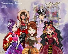 Ever After High future Thronecoming doll of Cerise Hood, Poppy O'hair, Duchess Swan and Lizzie Hearts