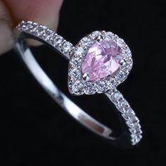 Pear Shaped Engagement Rings 2 - pictures, photos, images - Check out more pear shaped engagement rings at MyPearShapedEngagementRings.com
