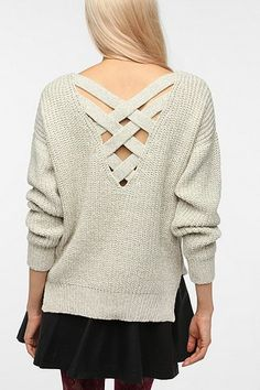 Sparkle & Fade Crisscross Back Sweater - Urban Outfitters