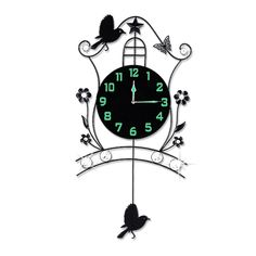 20 Inch Large Wall Clock Modern Design For Living Room Luminous Mute Bedroom Wall Watch Creative Pastoral Wall Clocks Home Decor