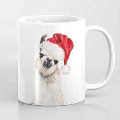 Christmas Llama Coffee Mug by Big Nose Work - 11 oz Llama Christmas, Christmas Door, Christmas Mugs, Christmas Time, Christmas Ornaments, Xmas, Christmas Ideas, Llama Gifts, Llama Alpaca