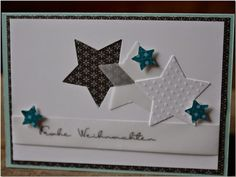 Go to the webpage to see more about Homemade Cards Homemade Christmas Cards, Handmade Christmas, Homemade Cards, Christmas Crafts, Star Cards, Diy Cards, Crafts To Make, Making Ideas, Cardmaking