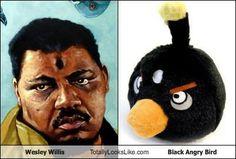 Wesley Willis Totally Looks Like Black Angry Bird