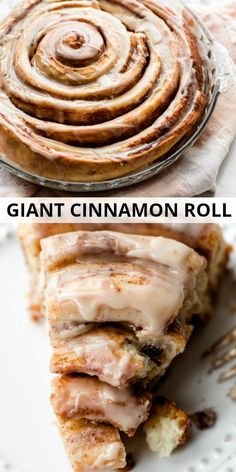 Learn how to make a giant cinnamon roll cake using an easy homemade cinnamon roll dough and swirling it into one large cake. Top with vanilla icing! Donut Recipes, Brunch Recipes, Cake Recipes, Breakfast Recipes, Dessert Recipes, Cooking Recipes, Cinnamon Recipes, Breakfast Cake, Pavlova