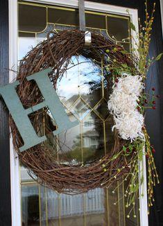 winter door wreaths | ... created this winter wreath for my after-Christmas-naked-front-door