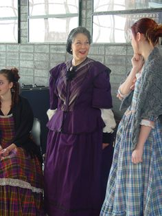 The upper class Victorian costume on our Mrs. Sowerberry in Oliver.