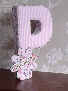 Girls fabric personalised nursery/bedroom letters, hanging wall art, door plaque, photography prop, birthday, christening keepsake gifts by AlphabetCraft on Etsy