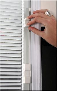 Anderson windows with blinds inside house pinterest - Exterior glass door with built in blinds ...