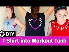 3 Easy DIY T-Shirt Cutting Ideas for Workout Tank Tops | Sea Lemon - YouTube