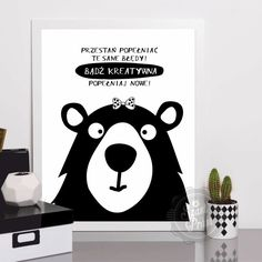 Plakat Kreatywna - 30x40cm (A3) Wombat, Motto, Baby Room, I Laughed, Free Printables, Diy And Crafts, Poems, Positivity, Lol