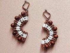 ▶ How to Make Amazing Macrame Earrings - Tutorials . - YouTube