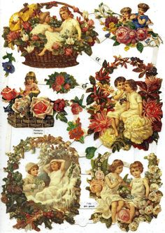 DIE CUT RELIEFS - Floral Framed Children
