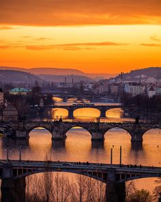 5 Bridges   A golden light cast itself over Prague as the sun set on my first evening in the city! I had such an amazing time shooting with @theluxurycollection at the stunning @augustineprague hotel! Also had the pleasure of being accompanied by @marzenka_ and @misshattan  Taken with the epic @Canonuk 5DSr w/ 100-400 f/4.5-5.6 | 1/80 |  f/5.6 | ISO 100 | by jacob