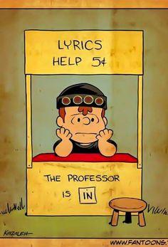 Lyrics help with Neil Peart