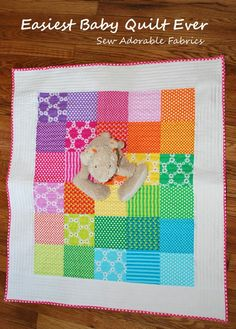 Easiest Baby Quilt Ever - Big DIY Ideas