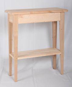 JUVIn Sivupöytä lev. 65 x syv. 27 x kork. 77 cm, välitasolla myös ilman välitasoa, tervaleppää