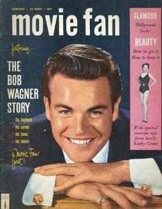 Robert Wagner - Movie Fan, Feb.1958
