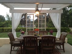 Outdoor room with a view. Back yard patio.