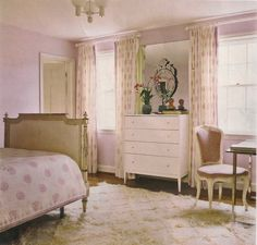 Pink, brown, and cream, girls bedroom