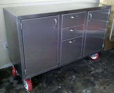 Stainless steel credenza by AMFKStainlessSteel on Etsy, $2000.00