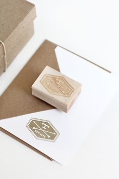CUSTOM STATIONERY STAMP NO. 10:: DBL. ARROW BADGE STAMP via Besotted Brand