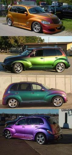 Has anyone done a chameleon paint job on their baby? - Page 2 - PT Cruiser Forum Car Paint Colors, Car Colors, Custom Paint Jobs, Custom Cars, Pt Cruiser Accessories, Carros Retro, Chrysler Pt Cruiser, Chrysler 2017, Chevy Hhr