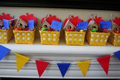 Snow White Birthday Party favor baskets