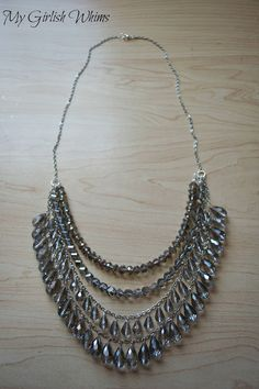 DIY Silver Sparkle Necklace | My Girlish Whims