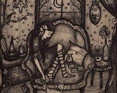 The Priestess of Hecate by ArtbyLadyViktoria on Etsy