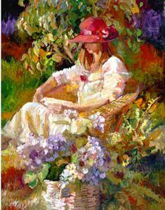 Sally Rosenbaum Reading in the Garden
