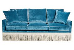 Portsmouth Sofa, Teal Velvet - Sofas & Sectionals - Furniture - Category Landing Page Affordable Furniture, Sectional Sofa, Sofa Furniture, Sofa, Sofa Texture, Stylish Sofa, Teal Sofa, Chic Sofa, Teal Velvet Sofa