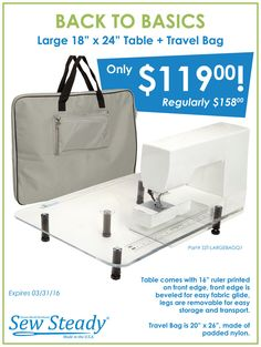 Big Travel Bag for Your Sew Steady Table