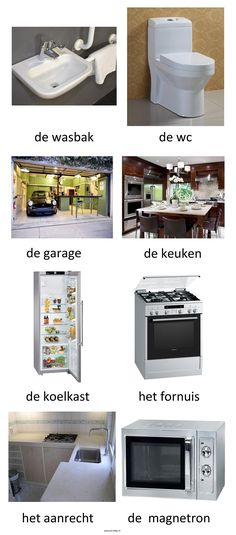 Woordkaarten. Thema : het huis (3) Learn Dutch, Dutch Language, Teaching Grammar, Vocabulary, School, Home, Blog, Foreign Language, Holland