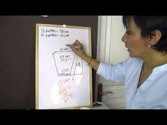 ▶ Cómo hacer un patrón para mangas con dos agujas - YouTube