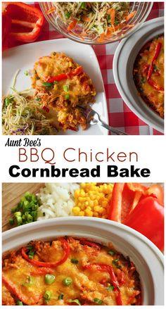 BBQ Chicken Cornbread Bake | Aunt Bee's Recipes