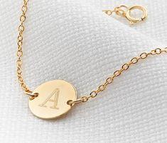 334df4fcd12 Gold Initial Bracelet, Initial Charm Bracelet, Gold Mom Bracelet,  Bridesmaid Gift, Disc Bracelet, Letter Bracelet, Custom Gold Bracelet