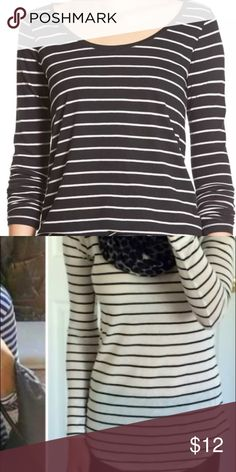 Bp striped black and white tunic tee xs Colors and the black with white stripes like the first pic.... Will add more pics tomorrow... Blogger favorite brand new with tags... Bought from nordstroms bp Tops