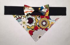 Dog Bandana  Floral with Bow by SpottedDogShop on Etsy, $9.95