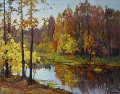 Yellow leaves - Victor Dovbenko - Russian Fine Art