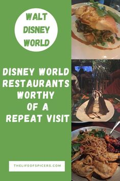 Walt Disney World Restaurants Worth A Second Visit - The Main Street Magic Guide - Travel: Disney Planning Family Vacation - There are some restaurants at Disney World that are so good for food, location or atmosphere that y - Best Disney World Restaurants, Disney World Food, Disney World Magic Kingdom, Disney World Florida, Disney World Planning, Disney World Resorts, Walt Disney World, Disney Parks, Disneyland Restaurants