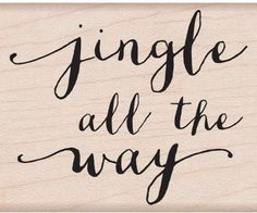 Jingle Script Rubber Stamp (Jingle all the way Rubber Stamp) Christmas Stamp Art Impressions, Jingle All The Way, Slogan Tee, Online Craft Store, Hero Arts, Silhouette Projects, Amazon Art, Sewing Stores, Script