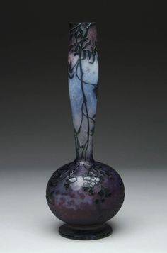 ** Daum Frères, Nancy, Wheel Carved Glass Vase.