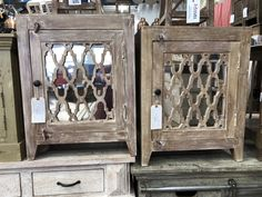 Solid wood end tables with a bit of bling. Rustic Wood Furniture, Wood End Tables, Online Furniture Stores, Carving, Bling, Boho, Home Decor, Jewel, Decoration Home