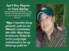 A famous singer here in the Philippines was diagnosed in the U. of prostate cancer is now healed with Pure Barley in just 3 months. What Is Prostate Cancer, Cancer Fighter, Reproductive System, Famous Singers, Philippines, The Cure, Pure Products, Cancer Cells