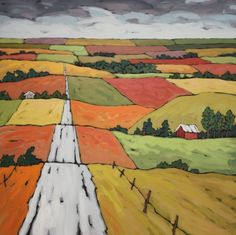 """""""Harvest Fields"""" by Jennifer Woodburn"""
