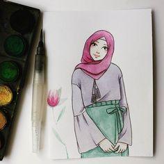 Sükut-U lisan selameti i̇nsan tesettür karikatürler, 2019 рисунки ve акварел Hijab Drawing, Islamic Cartoon, Anime Muslim, Hijab Cartoon, Fashion Collage, Healthy Work Snacks, Shabby, Art Journal Inspiration, Girl Cartoon