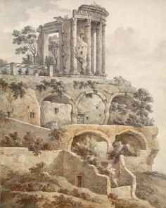Temple of the Sibyl in Tivoli by Charles-Louis Clérisseau