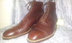 NOS DEAD STOCK 1920 30s SELZ US 8 D ANTIQUE VTG mens BOOTS shoes